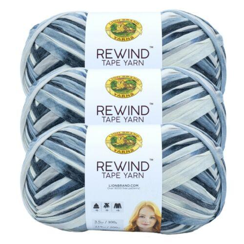 Lion Brand Yarn 523-502 Rewind Yarn Pack of 3 Skeins Trade Winds