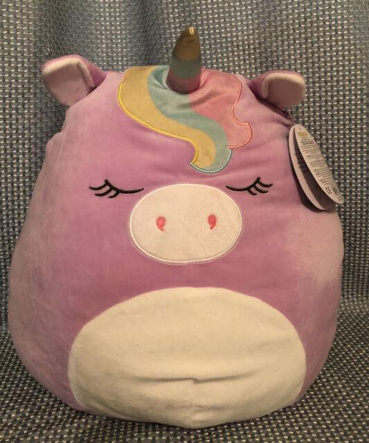 "Kellytoy Squishmallow 16"" Silvia The Pink Sleepy Squishmallow Soft Plush Toy"