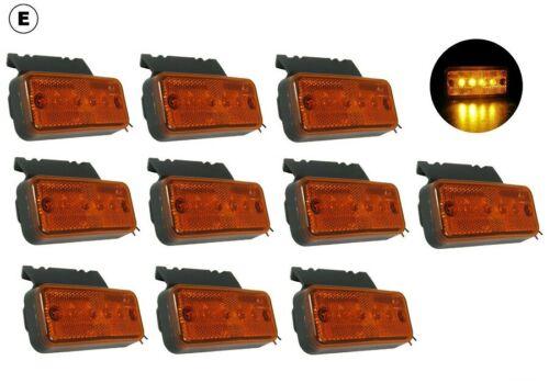 LED umrissleuchte luz de posición delantera posición lámpara naranja 24v camión remolque