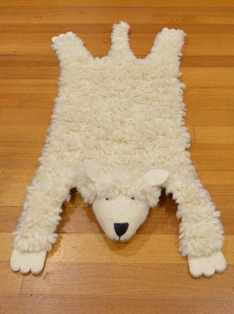 Kids Rug Children Room Floor Animal Skin Sheep Woolen Rugs