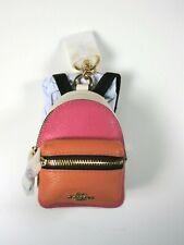 F58553 NWT$128 Coach Leather /& Canvas BackPack Keychain Bag Charm Coin Purse