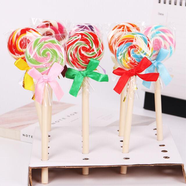Black Ink Cute Lollipop Ballpoint Pens Stationery Office School Supplies