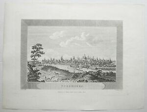 NURNBERG-Gesamtansicht-Orig-Kupferstich-von-JONES-WILLIAMS-1825-SELTEN