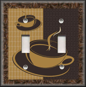 Image is loading Metal-Light-Switch-Plate-Cover-Coffee-Cups-Coffee- : coffee plates decor - pezcame.com