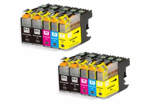10-Pack//Pk LC103 XL Ink Cartridge Set For Brother MFC-J870DW MFC-J875DW Printers