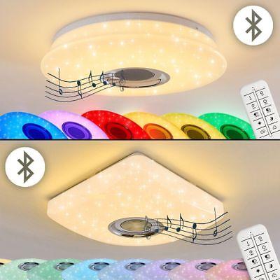 LED Farbwechsler Wohn Schlaf Raum Leuchte Lautsprecher Fernbedienung Deckenlampe