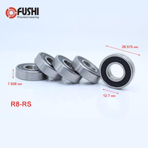 R8-2RS Inch Miniature Ball Bearing 12.7x28.575x7.938mm ( 10 PCS ) ABEC-1