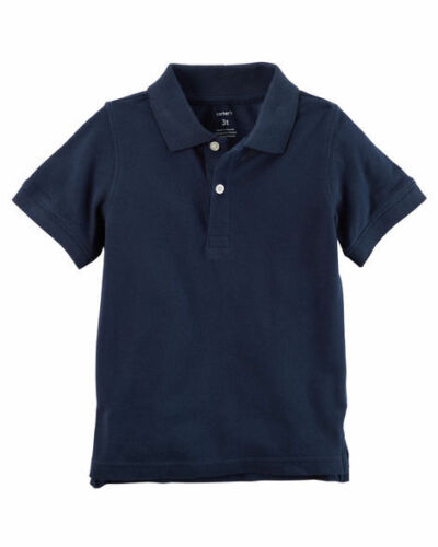 Carters Toddler Boys TWO Short Sleeve Knit Polo Shirts Red /& Navy NWT pullover