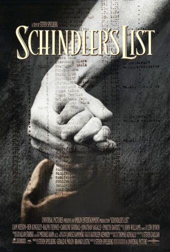 "SCHINDLER/'S LIST 1993 OSCAR BEST PICTURE Original DS 2 Sided 27x40/"" Movie Poster"