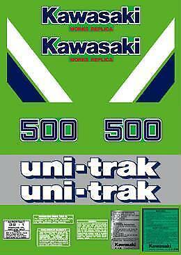 1986 KAWASAKI KX 500 COMPLETE DECAL KIT AHRMA VINTAGE MOTOCROSS