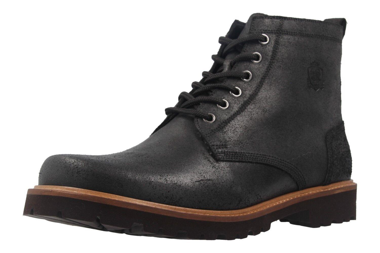 MANZ - Herren Boots - Schwarz Schuhe in Übergrößen