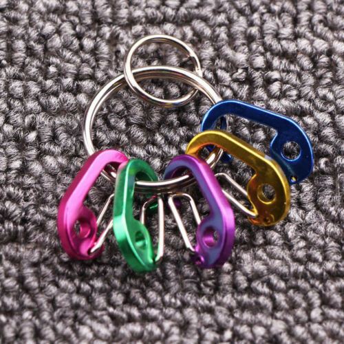 Hang Clip Camping Hiking D type Keychain Buckle Key Ring Snap Hook Carabiner