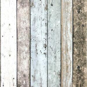 Details About Blue Wood Effect Wallpaper Surf Beach Hut Distressed Wooden Grain Vinyl Feature