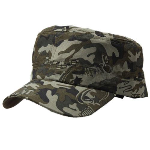 Men/'s Camouflage Baseball Cap Flat Trucker Military Army Tactical Camo Sun Hat