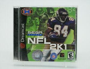 NFL 2K1 Sega Dreamcast Game Complete Tested Free Shipping