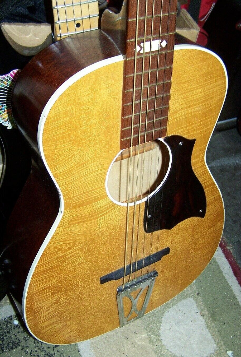 s l1600 - Harmony Stella Parlor Guitar Factory Second 1970's