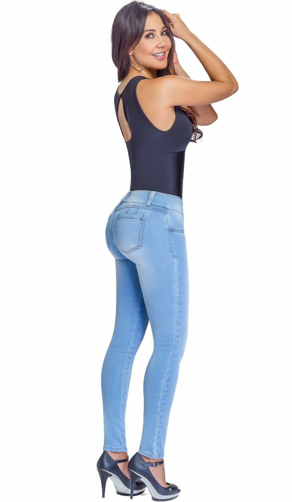 fbe4f02cd ... Jean Levanta Cola Colombiano Lowla 217988 Butt Lifter Jeans Jeans Jeans  With Removable Pads 74c3be