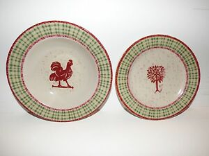 Image is loading Coventry-Genuine-Stoneware-Americana-5-Bowls-2-Salad- & Coventry Genuine Stoneware Americana 5 Bowls 2 Salad Plates Tree ...