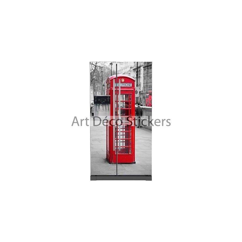 Adesivo Frigo Americano Elettrodomestici Decocrazione Cabina Telefonica