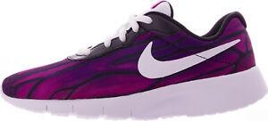 nike tanjun print purple