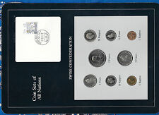 Coin Sets of All Nations Switzerland 1981-1983 UNC 1/2,1,5 Franc 1982 2 Fr 1981