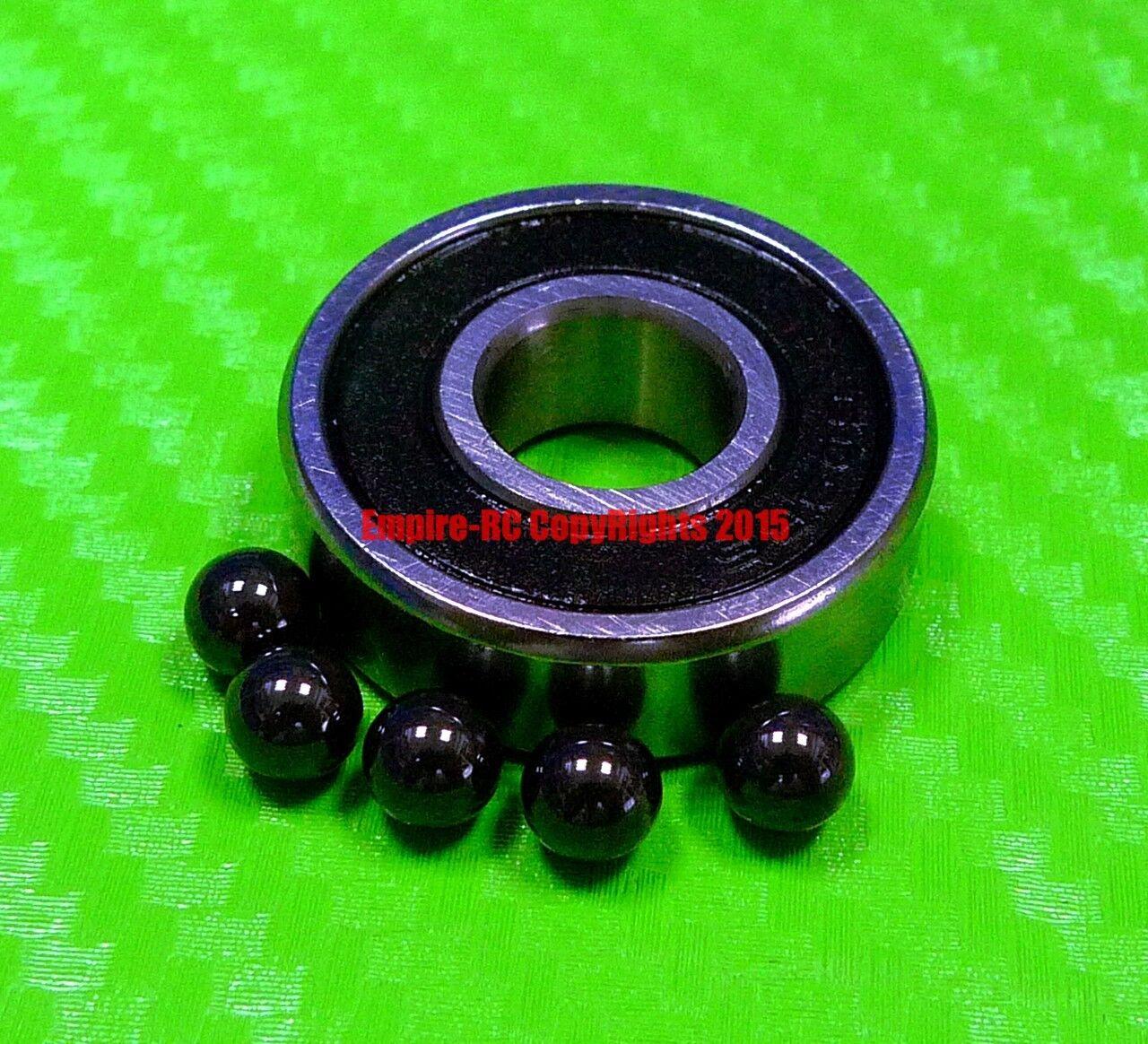 [QTY 10] (9x26x8 mm) S629-2RS Stainless HYBRID CERAMIC Ball Bearing Bearings BLK