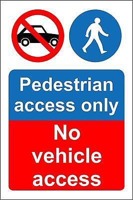 A5 All Materials No Access No Public Access or Right of Way Sign