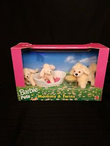 New-BARBIE-PETS-Mommy-amp-Twins-Puppy-Dogs-1996-Vintage-IN-BOX-SEALED-RARE