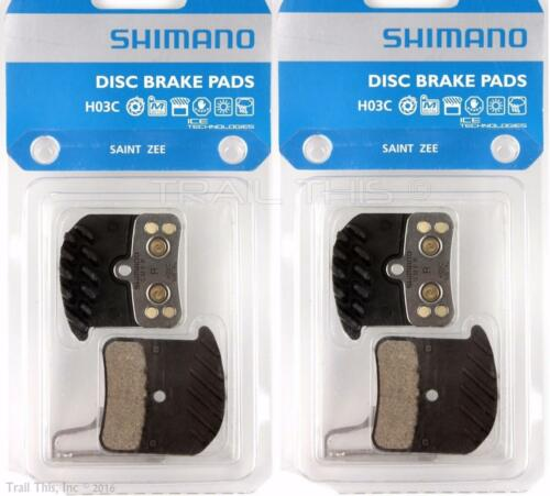 2 Pack Shimano H03C Metal MTB Disc Brake Pads fits SAINT VEE BR-M280 M640 Two