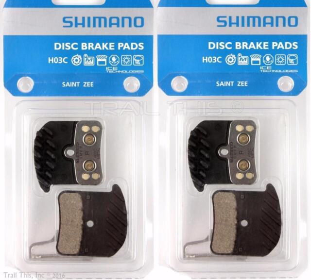 Shimano Saint BR-M820 Metal Pads with Cooling Fin /& Pin NIB H03C