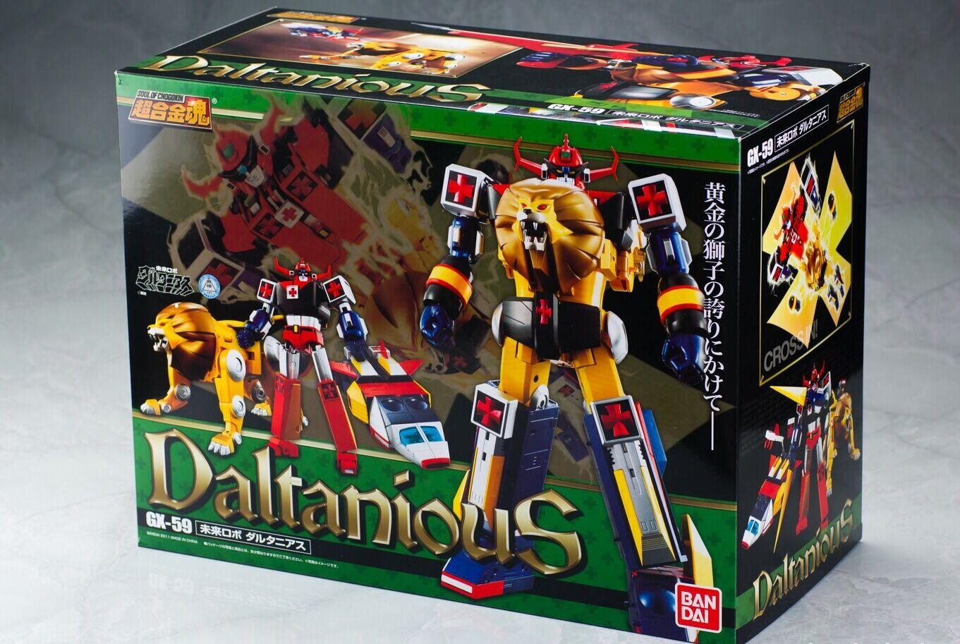 Bandai Chogokin Tamashii futuro robot Daltanias Figura de Acción Japón Import F S