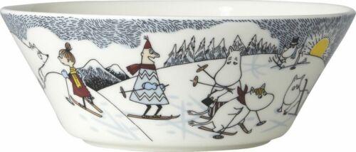 Hiihtäen kera Herra Virkkusen Moomin Bowl 15cm Skifahren mit Mr Brisk NEU
