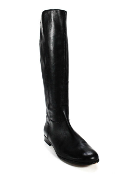 Corso Como Womens Leather Tall Riding Boots Black Size 8