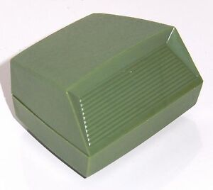 Vintage Green Lucite Earring Box Presentation w Stand signed Rocket
