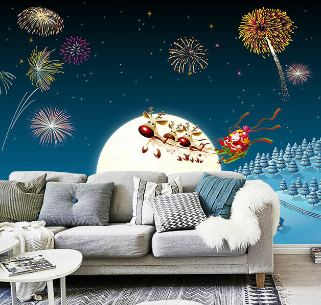 3D Fireworks Christmas 63 Wallpaper Murals Wall Print Wallpaper Mural AJ WALL US