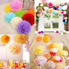 1/5/10pcs New 8''/10'' Tissue Paper Pom Flower Balls Party Wedding Hanging Decor