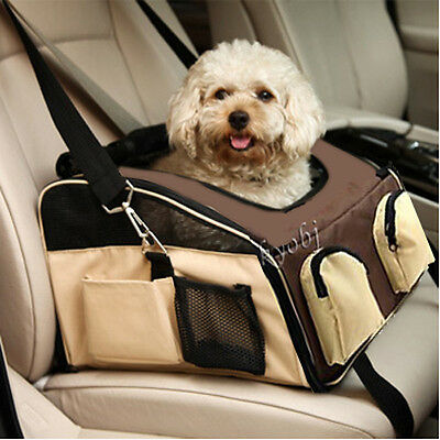 New pet dog puppy car seat travel bag carrier crate cage house coffee