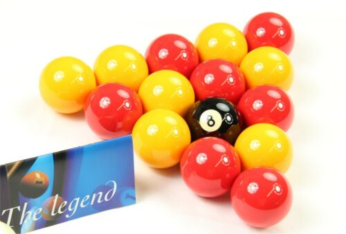 """Suitable for Pubs 1 7//8/"""" Cue Ball Aramith PREMIER Red /& Yellow 2/"""" Pool Balls"""