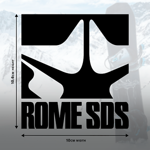 2 x ROME SDS Logo Decal Stickers in Black Gloss