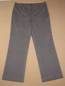 b7100a5ec15d3 Image is loading ANN-TAYLOR-Womens-Signature-Fit-Houndstooth-Dress-Pants-
