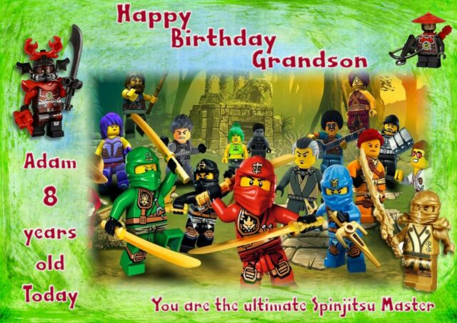 Personalised Birthday Card Lego Ninjago Daughter Grandaughter Son