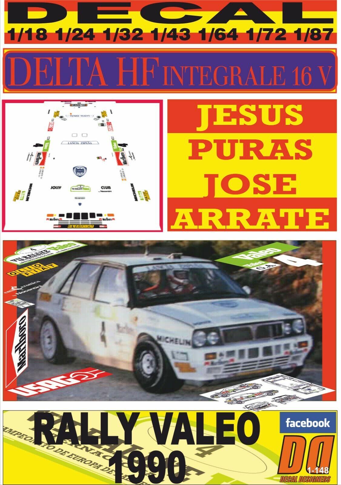 DECAL LANCIA DELTA HF INTEGRAL 16V J. PURAS R. VALEO 1990 DnF (08)