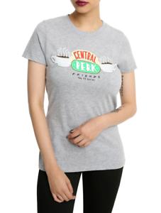 Friends-TV-Show-CENTRAL-PERK-LOGO-Girls-Women-039-s-T-Shirt-NEW-Official-amp-Licensed