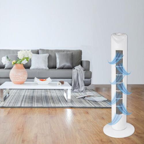Turmventilator 82 cm-Blanc-Extra silencieux Stand Ventilateur 45 W piliers Ventilateur