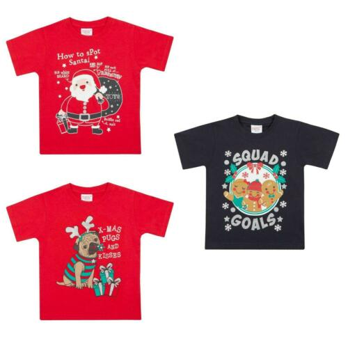 Kids Christmas T Shirts Sizes for all the family from 3-6 months to 13 Years