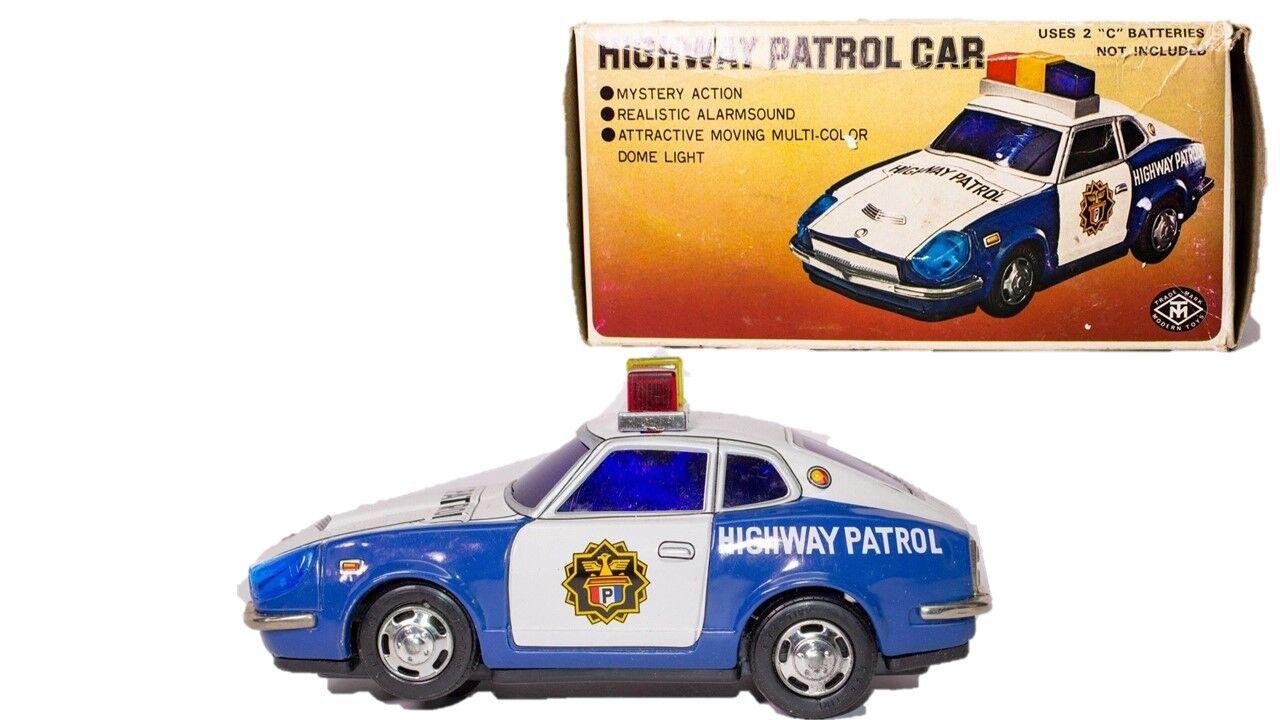 Vintage Masudaya Porsche a Batteria Autostrada Patrol Auto