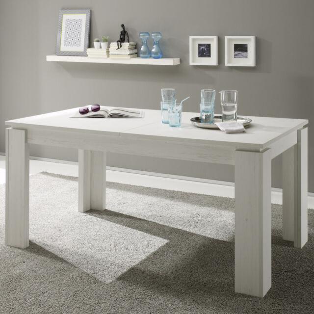 Esstisch Universal Pinie Struktur weiß Ausziehtisch Esszimmer Tisch Küchentisch