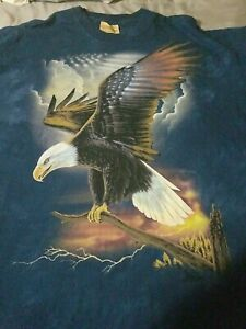 Bald-Eagle-2006-The-Mountain-USA-Tie-Dye-T-Shirt-Short-Sleeve-Mens-Size-XL
