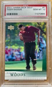2001 Upper Deck Tiger Woods #1 PSA 10 GEM MINT
