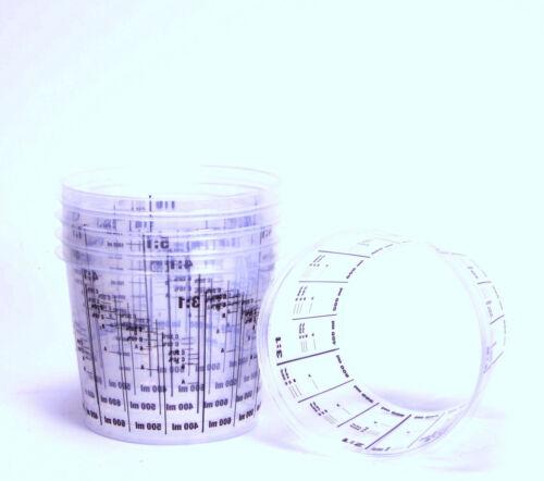 10 Lackmischbecher mit Skala Mischbecher 1400ml Markenqualität PVC1400